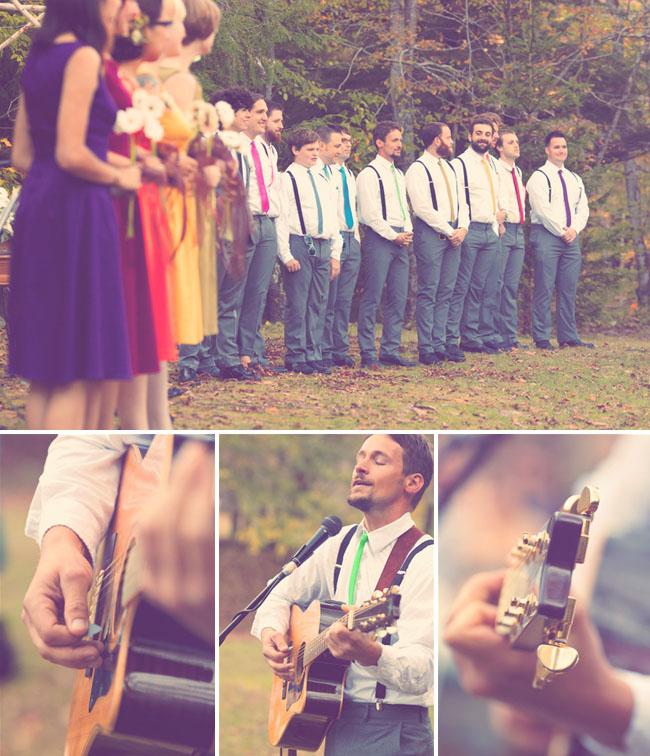 mariage boheme couleurs guitare