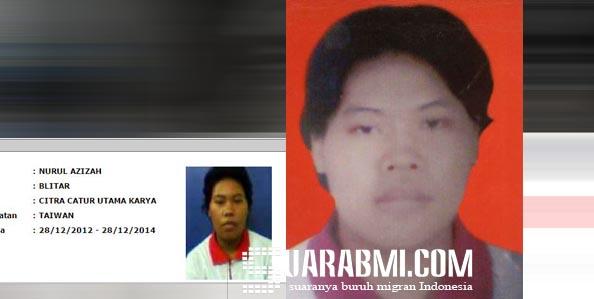 Nurul Azizah, Kabar Hilang BMI Taiwan