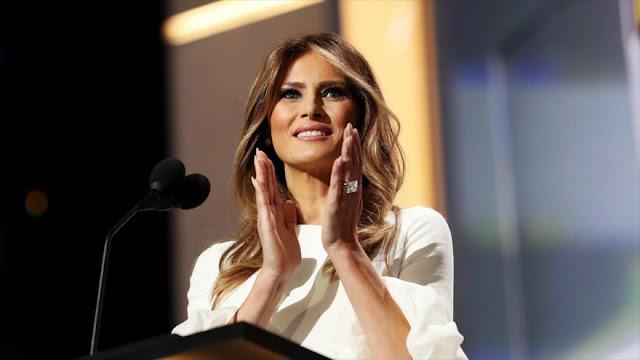 Melania Trump plagia tramo central de su discurso de Michelle Obama