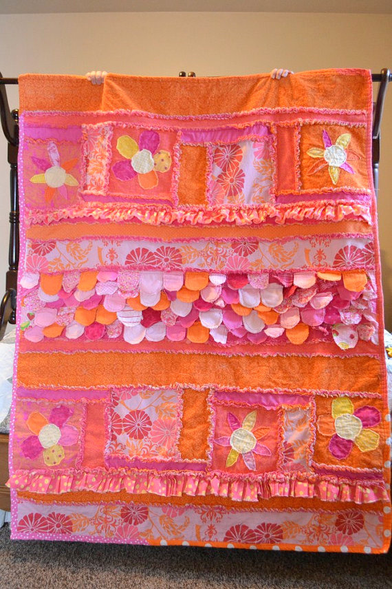 Sew Girly Rag Quilt Pattern by A Vision to Remember