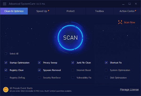 Advanced SystemCare 11.5 Pro Crack Serial Key License Code