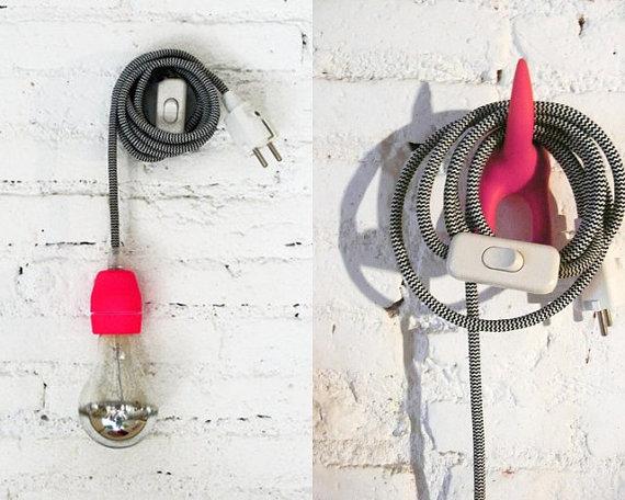 colorful pendant lamp cords