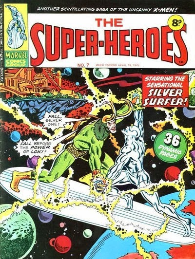 Marvel UK, The Super-Heroes #7, Silver Surfer vs Loki