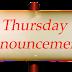 SHGG Announcements