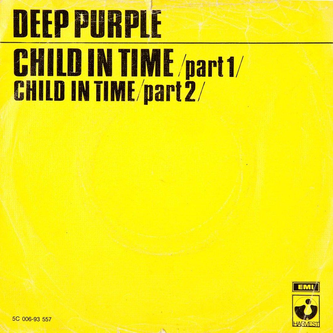 Portada del single Child in time de Deep Purple