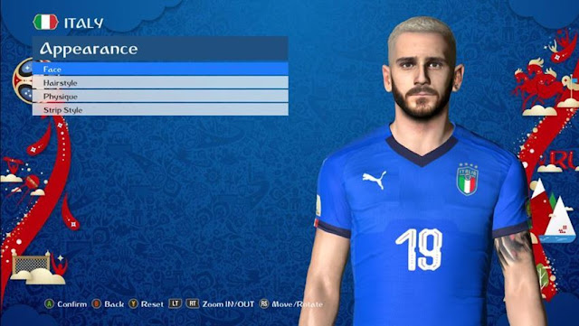 Leonardo Bonucci New Face PES 2017