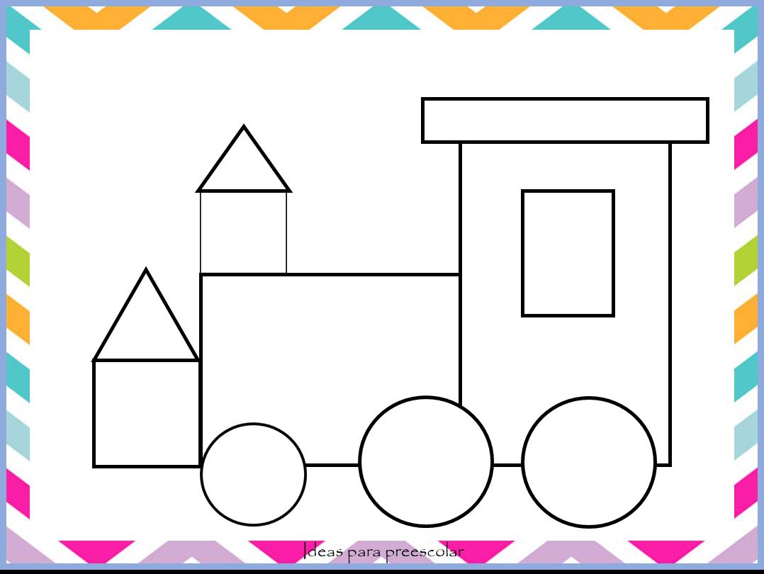 Figuras De Niños Para Colorear: Ideas Para Preescolar: Dibujos Con Figuras Geométricas