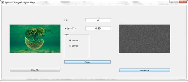 Buku Pengolahan Citra Digital dengan Matlab - Enkripsi Citra Digital dengan logistic Maps- Random Generator