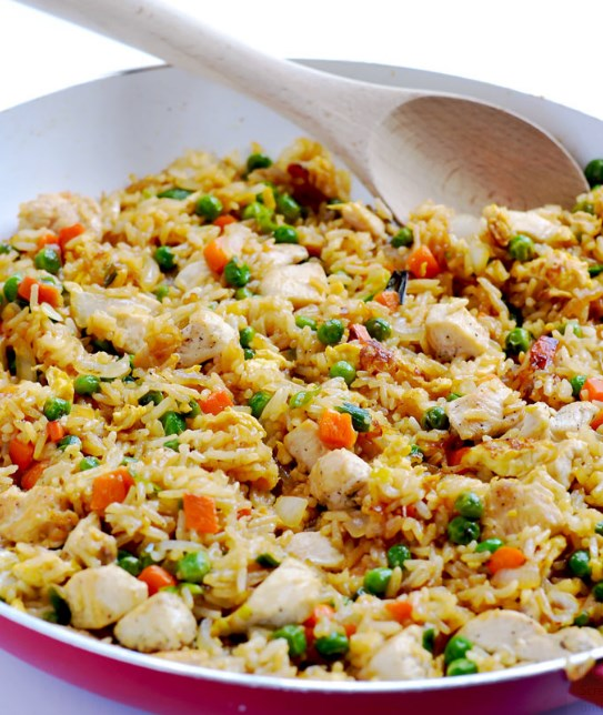 Chicken Fried Rice #Friedrice #Weeknight