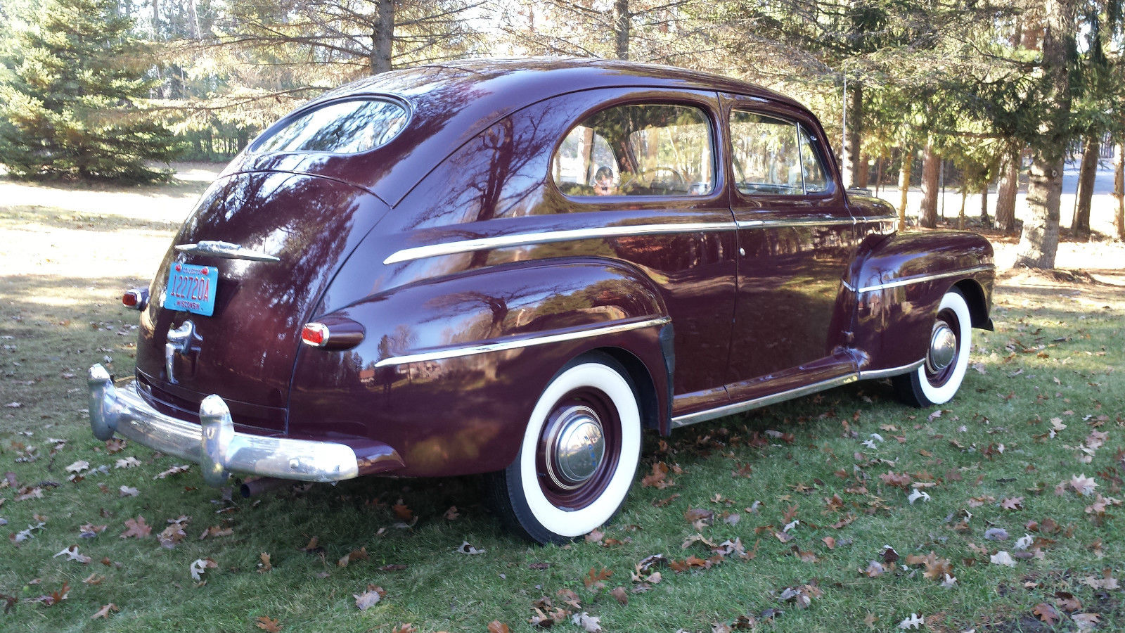 All american classic cars 1948 ford deluxe tudor 2 door sedan for 1946 chevy 4 door sedan