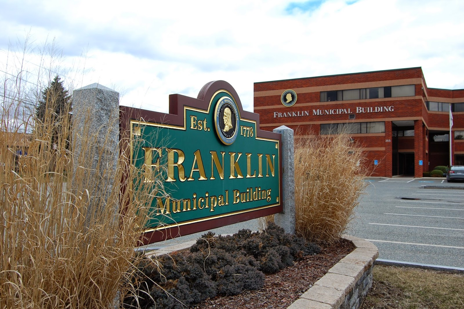 Franklin Municipal Building - the setting for the Town Council meetings