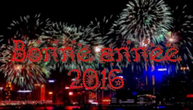 message bonne annee 2016