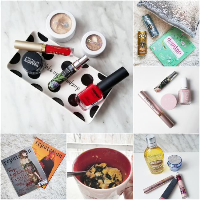 bbloggers, bbloggersca, canadian beauty bloggers, beauty blog, instamonth, instagram, round up, lifestyle, stila, drugstore makeup, colourpop, nest fragrances, domino book, one drop coffee, eggs in a mug, beauty faves, taylor swift, reputation