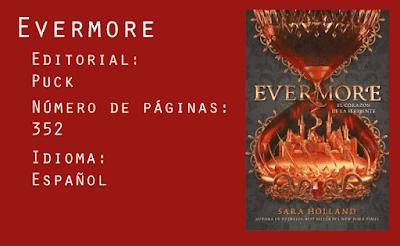 Evermore. Editorial Puck. 352 páginas. Español.