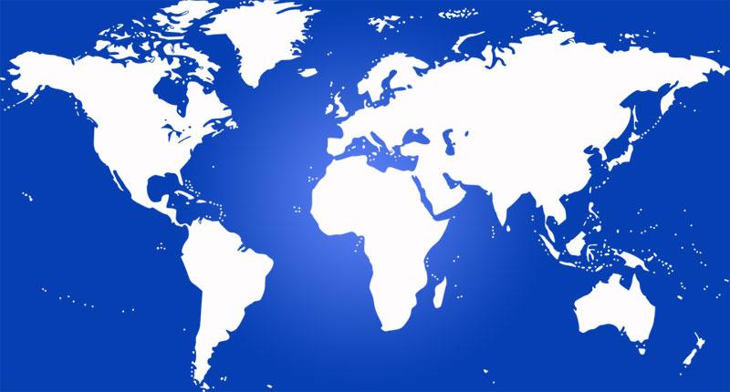 image: Physical World Map Blind