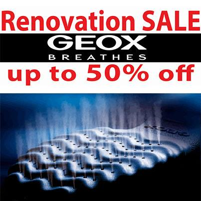 Manila shopper august 2013 geox is renovating their stores at trinoma glorietta to serve their customers better grab great discounts shoes as low as p1500 on selected items stopboris Choice Image