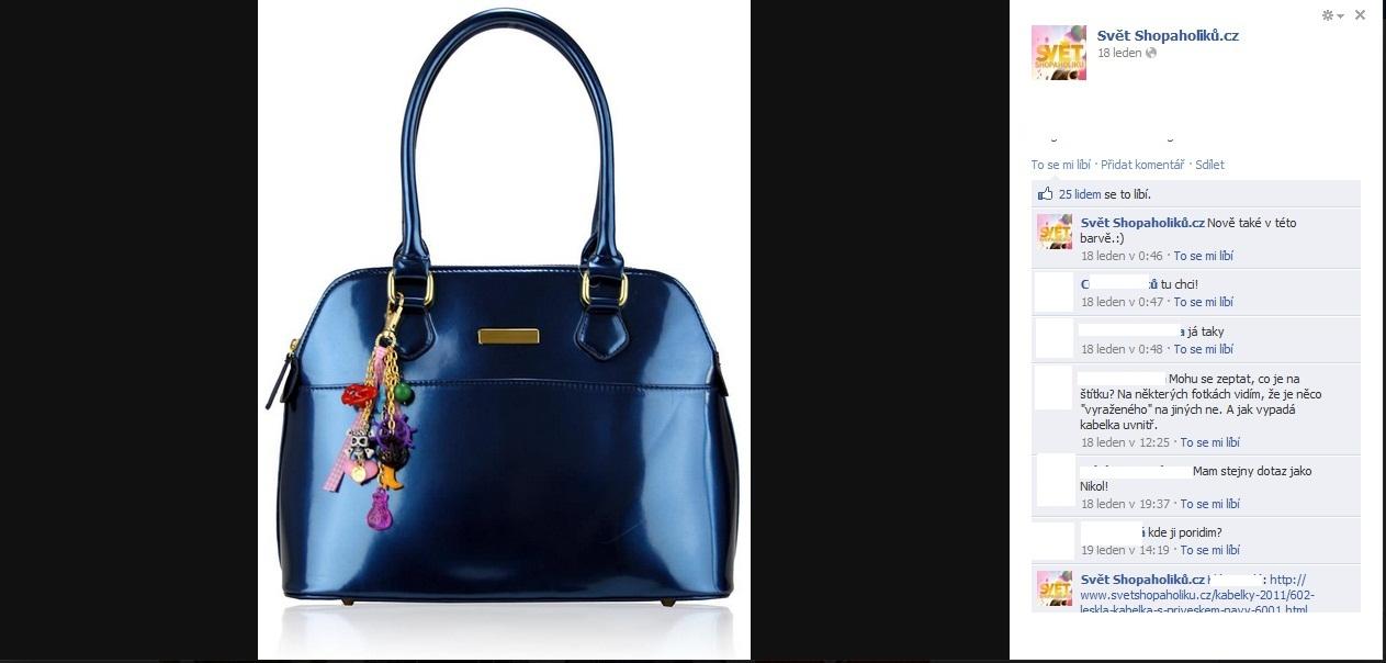 17823a628e1 Tuhle kabelku prodává Svět shopaholiků za 899 korun. Originál stojí 61  liber, což je asi 1 800 korun. Ale proč nedat za blbě udělaný padělek půlku  ceny.