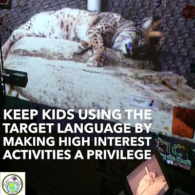 Teaching in the target language