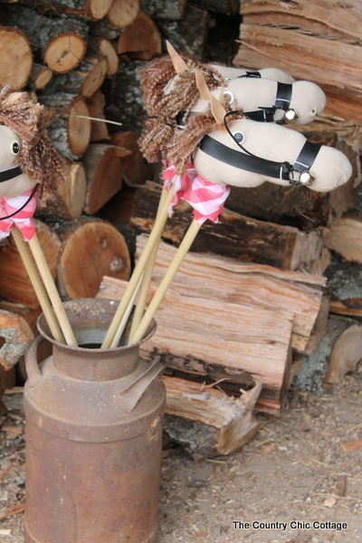 DIY Sock Stick Horses Tutorial with consumer_crafts styrocrafts  The Country Chic Cottage