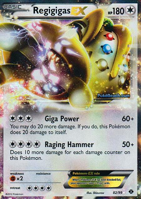 Regigigas ex next destinies set pokemon card review - Carte pokemon electhor ex ...