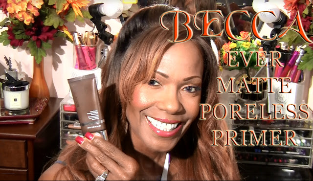 Becca Ever Matte Poreless Primer Review on Mature Brown Skin