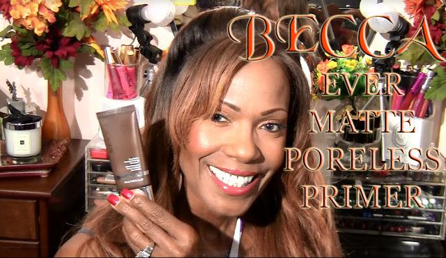 Becca Ever Matte Poreless Primer Review on Mature Brown Skin