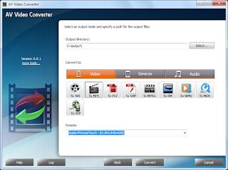 تنزيل برنامج تحويل الفيديو الى جميع الصيغ AV Video Converter