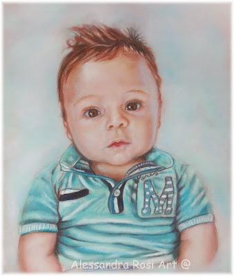 Children's portraits, Painted child portrait