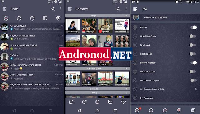 Dark Navy BBM v3.3.3.39 Apk Unclone | Clone Terbaru Android