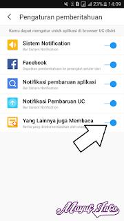 Cara Menonaktifkan/Menghilangkan Notifikasi Pemberitahuan Di UC Browser