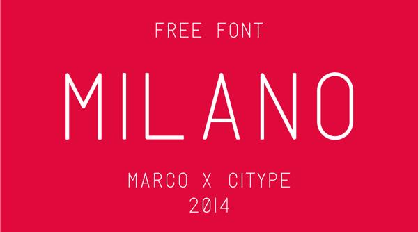 Günün Ücretsiz Fontu: Milano