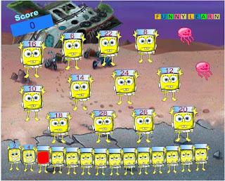http://www.vivajuegos.com/juegos-de-memoria/numeros-con-bob-esponja.html