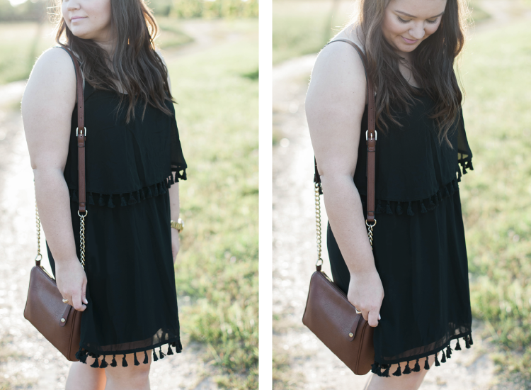 target little black tassels dress