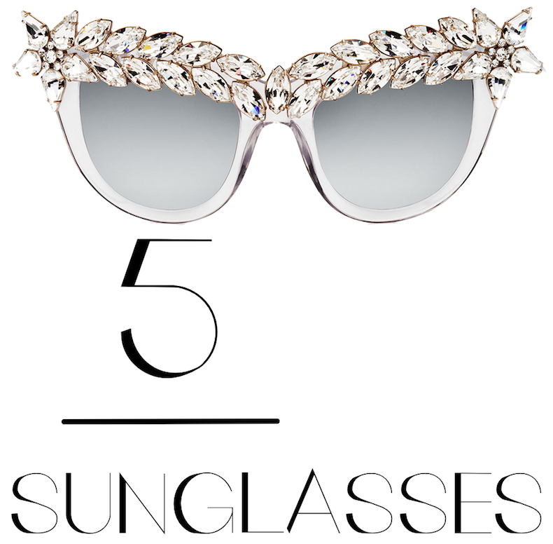 Anna-Karin Karlsson Decadence Mirrored Cat-Eye Sunglasses, Ice Crystal