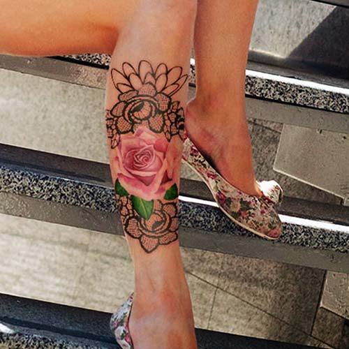 dantel dövmeleri lace tattoos 23