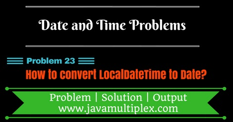 Java program that converts LocalDateTime to Date.