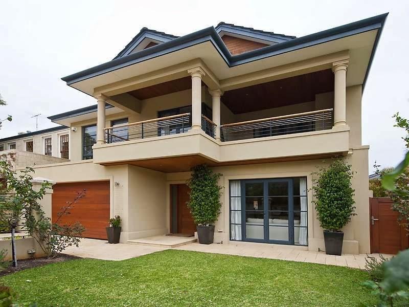 Hogares frescos fachadas de casas especial de hogares for Terrazas modernas exterior