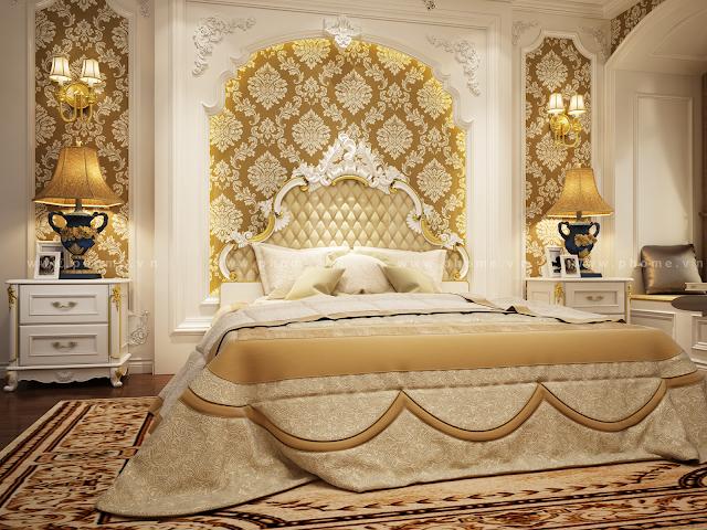 Top 10 các mẫu nội thất phòng ngủ tân cổ điển đẹp sang trọng châu âu