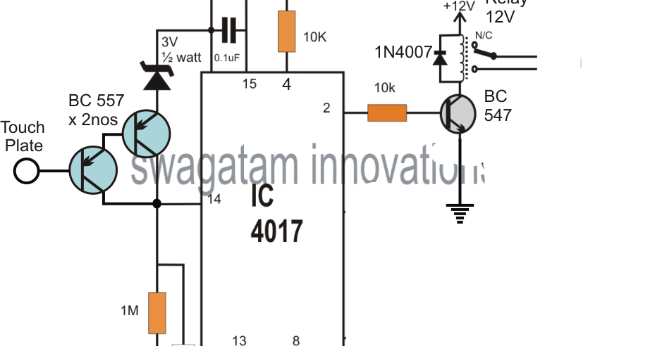 electronic touch switch circuit diagram