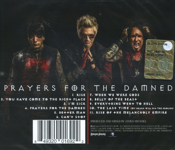 SIXX A.M. - Prayers For The Damned Vol.1 (2016) back