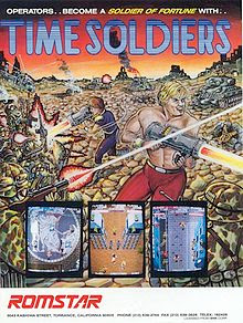 Time Soldiers+arcade+portable+game+retro+art+flyer