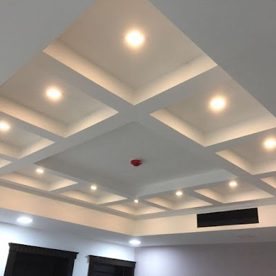 gypsum board coffered ceiling design ideas 2019