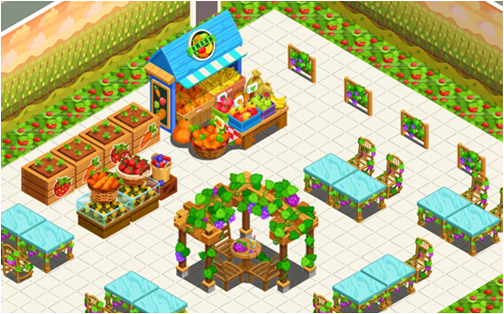 Restaurant Story Adventures: Harvest time and time on veggie pringles, veggie trees, veggie baskets, veggie animals, veggie plants, veggie garden,