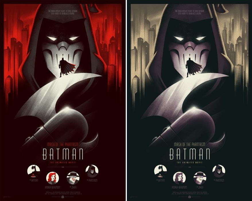 8a7380babd15 The Blot Says...  Batman  Mask of the Phantasm Screen Print by ...