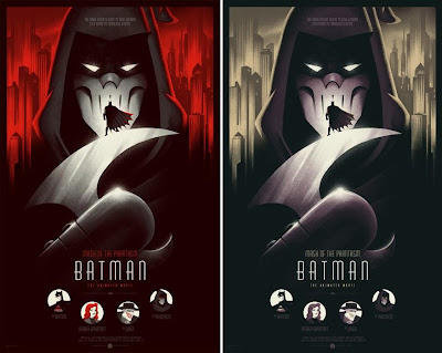 Batman: Mask of the Phantasm Screen Print by Phantom City Creative - Standard Edition & Variant