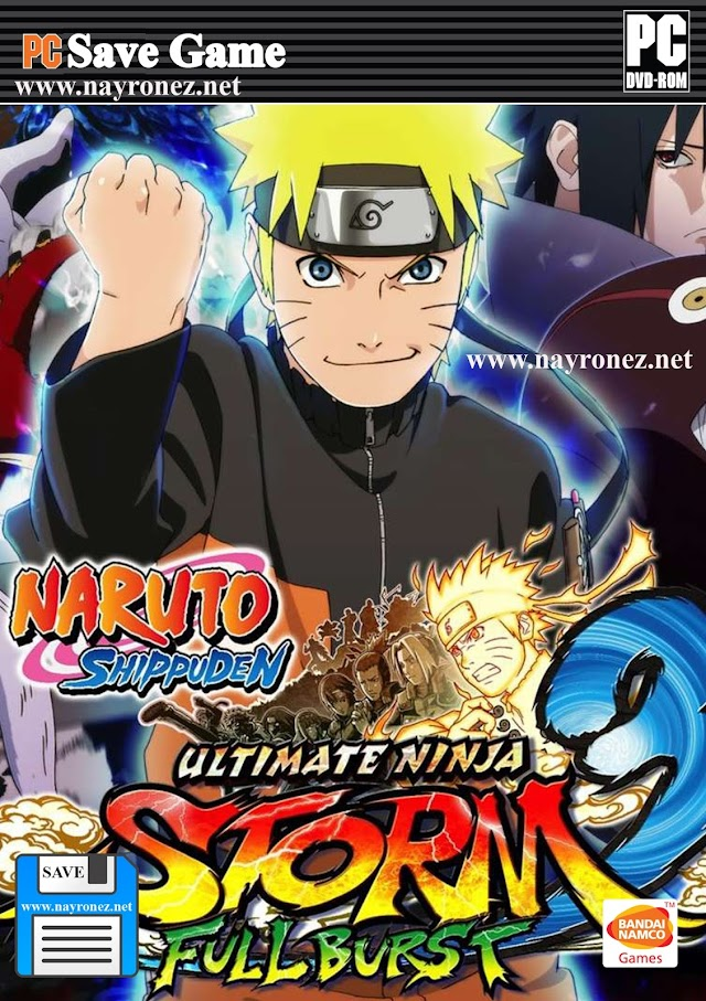 Save Game 100% Naruto Shippuden Ultimate Ninja Storm 3 Full Burst