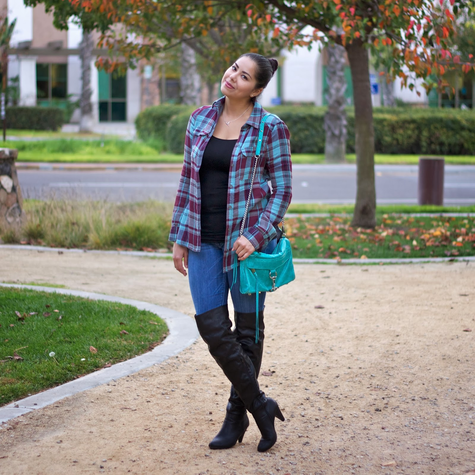 plaid casual outfit
