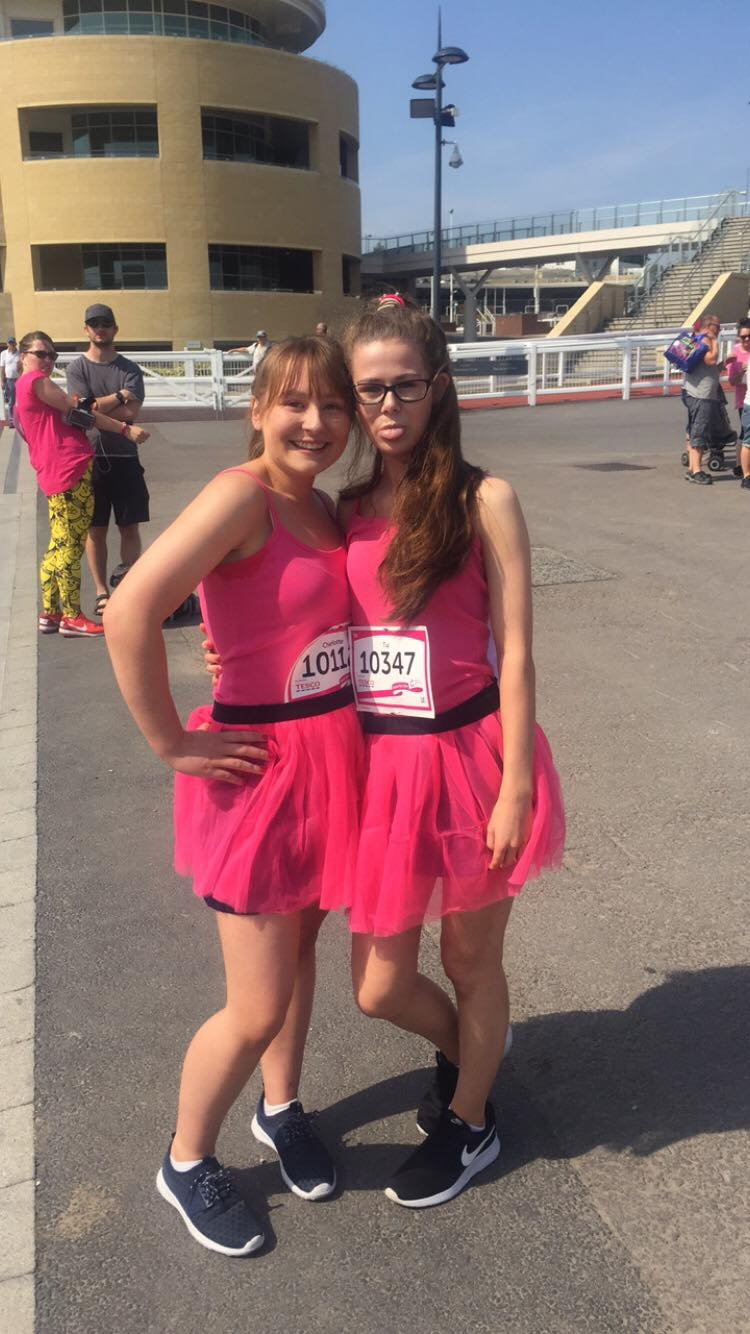 Charlotte and Tia Ready For Race For Life 2018 Cheltenham