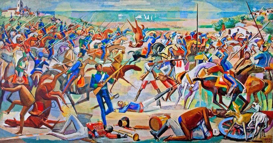 Batalha de Pirajá - Carybé ~ Um pintor fascinado pela cultura da Bahia