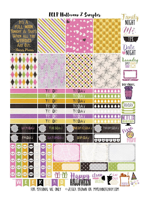 Halloween 2 Sampler for the Vertical Erin Condren Planner on myplannerenvy.com